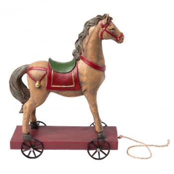 Buntes Deko-Pferd auf Rollen