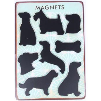 Blechtafel mit Hundemagneten