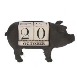 Ewiger Kalender Metallschwein