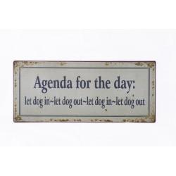 """Blechschild """"Agenda for the..."""