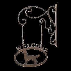 """Aushängeschild """"Welcome"""""""