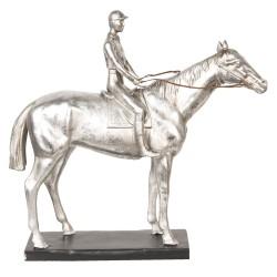 Großes silberfarbenes Pferd...